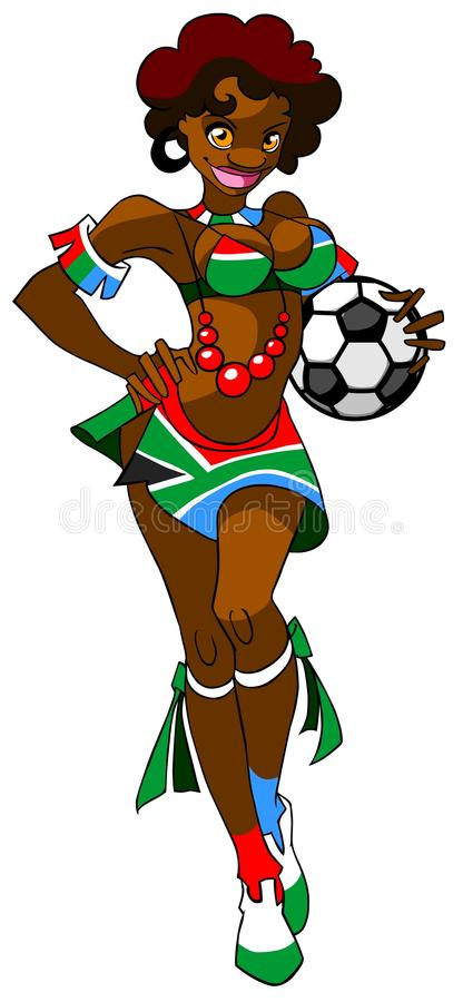 African woman - football fan. royalty free illustration