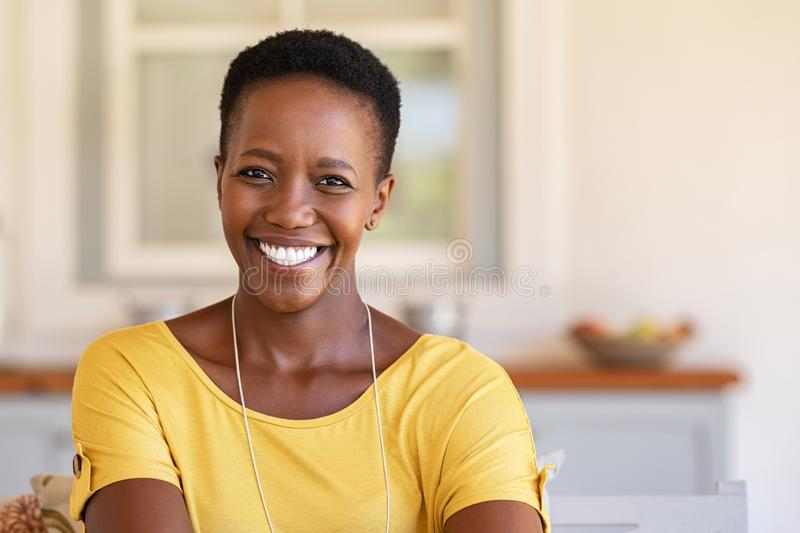 African woman looking at camera royalty free stock image