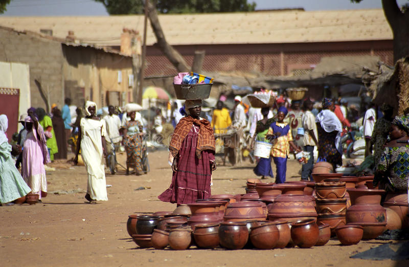 African woman at the market, Segou, Mali royalty free stock images