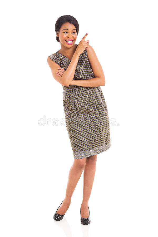 African woman pointing stock images