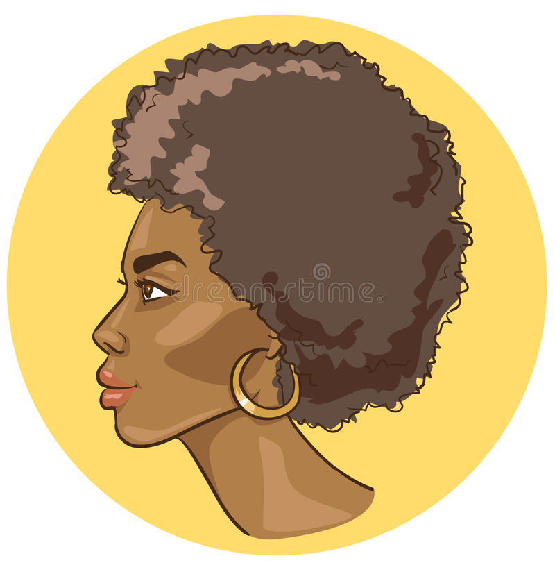 Download African woman portrait stock vector. Image of fashion - 28835651