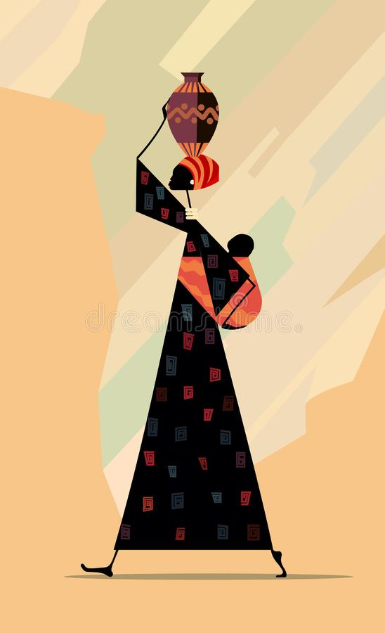 African woman stock illustration