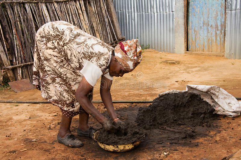 African woman working