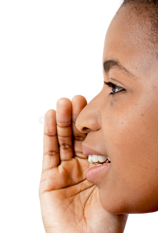 African women - Be quiet royalty free stock images