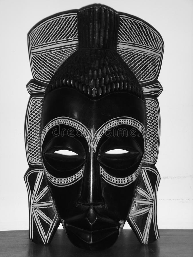 African wooden mask stock photography