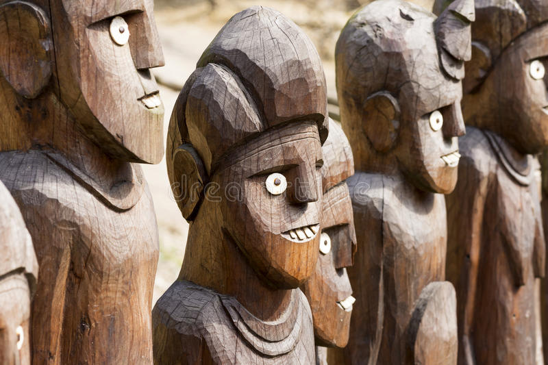 African wooden statues stock photo image
