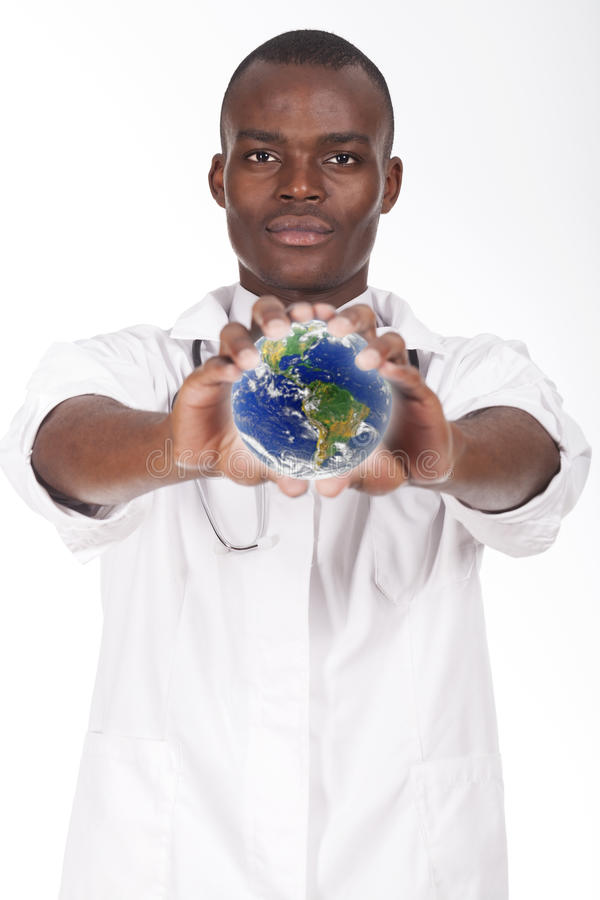 African young doctor royalty free stock photos