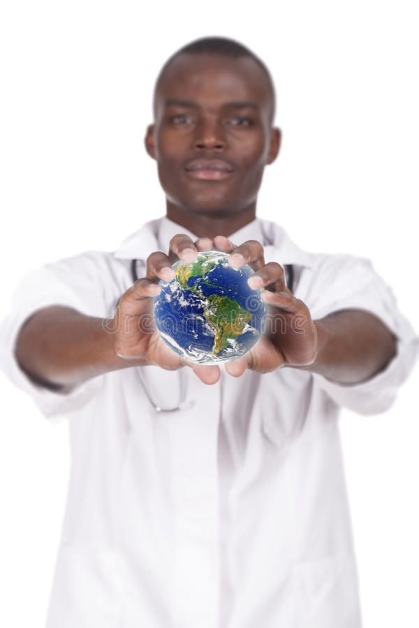 African young doctor royalty free stock image