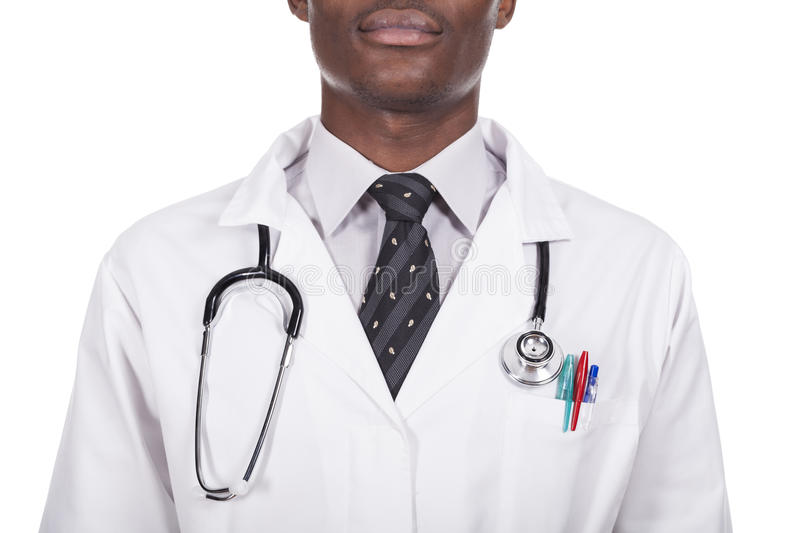 African young doctor stock images