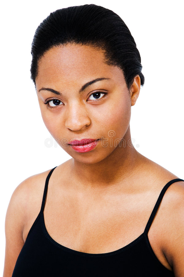 Download African Young Woman stock photo. Image of tank, white - 9124412