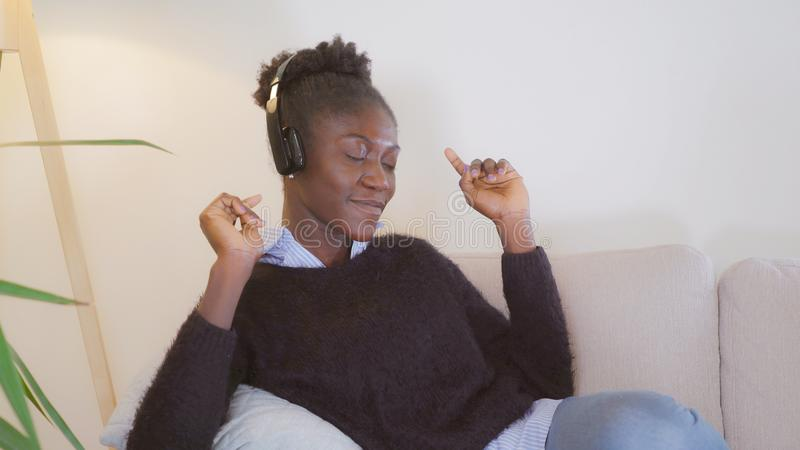 Female enjoy song royalty free stock image