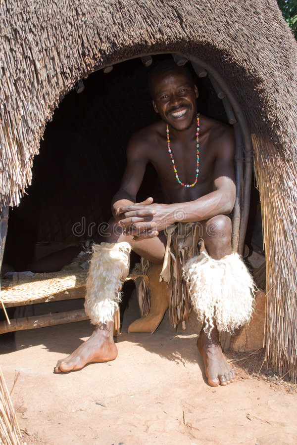 African zulu man stock photos