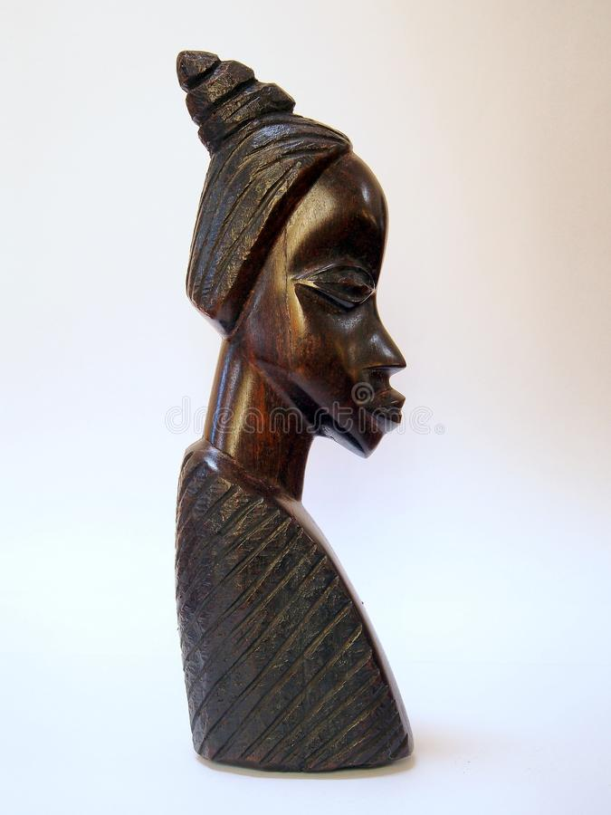 Africano Ebony Statuette foto de archivo