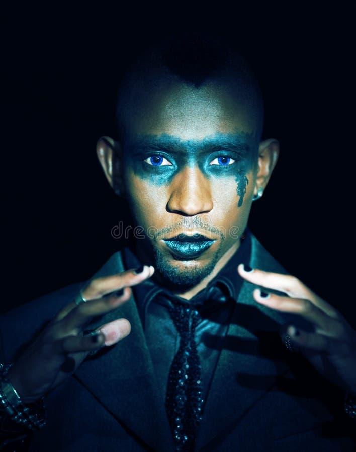 Africano gotico di sguardo fotografie stock libere da diritti