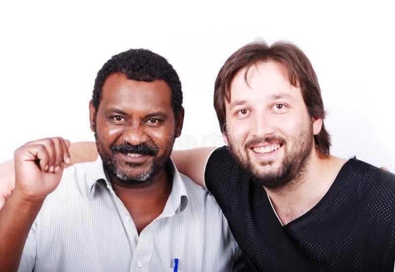 Africano y asiático junto imagen de archivo