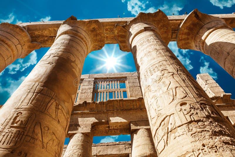 Afrika, Ägypten, Luxor, Karnak Tempel lizenzfreie stockfotografie