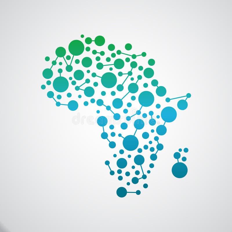 Afrika översiktsuppkopplingsmöjlighet också vektor för coreldrawillustration stock illustrationer