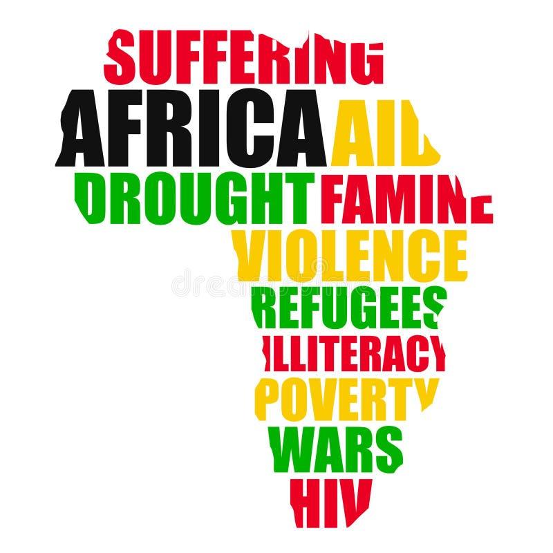 Afrika stock abbildung