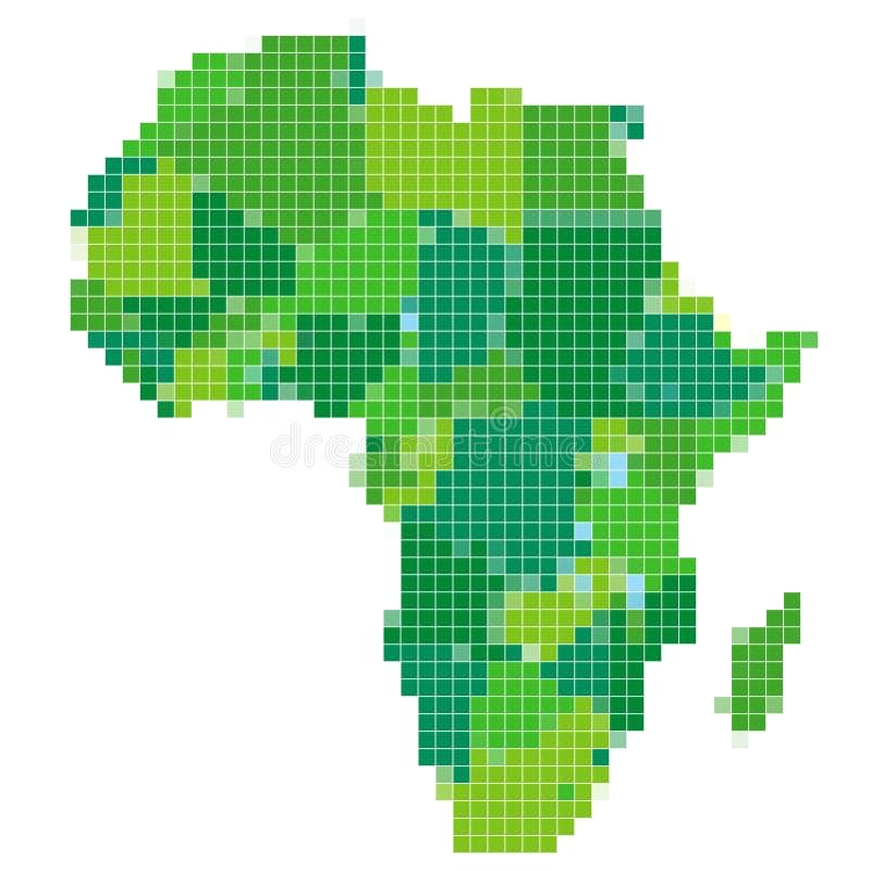Afrika royaltyfri illustrationer