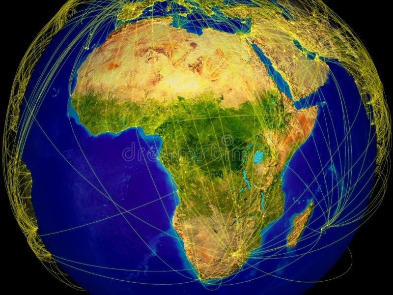 Afrika auf Erde vektor abbildung