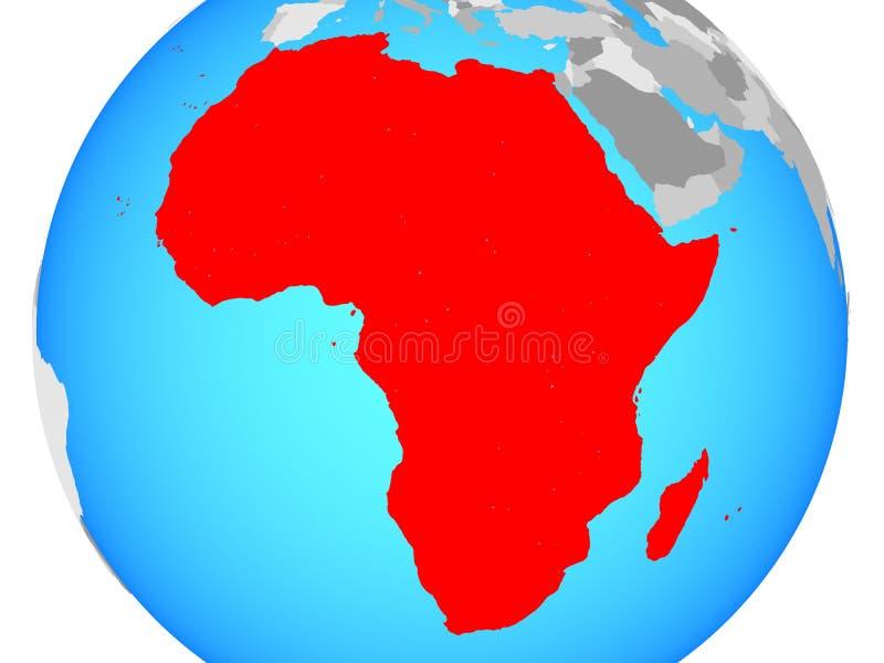 Afrika auf Karte vektor abbildung