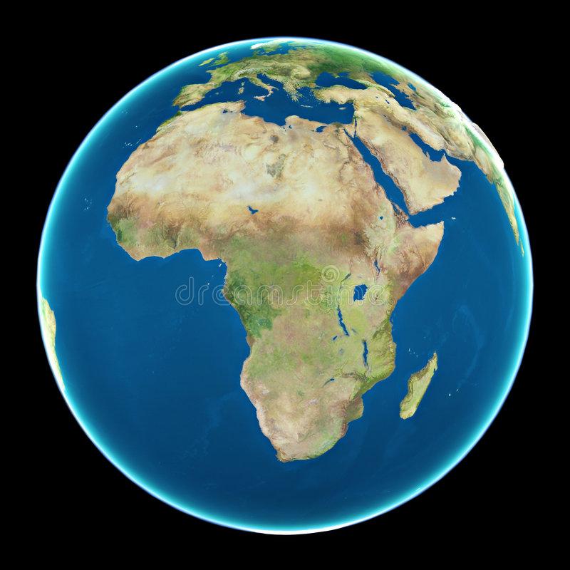Afrika auf Planet Erde lizenzfreie abbildung