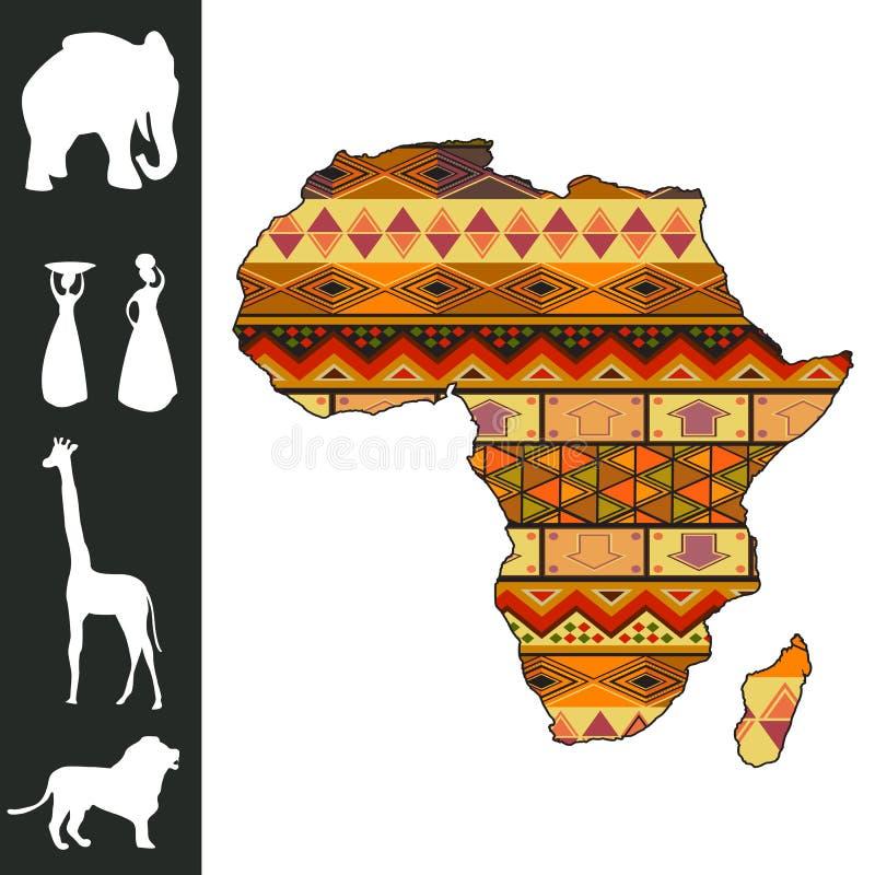 Afrika-Auslegung lizenzfreie abbildung