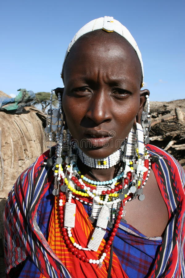 Afrika, de vrouwen Masai van Masai Mara stock foto's