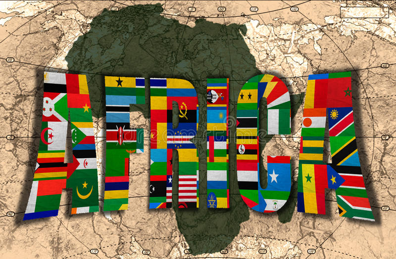 Afrika, der dunkle Kontinent vektor abbildung