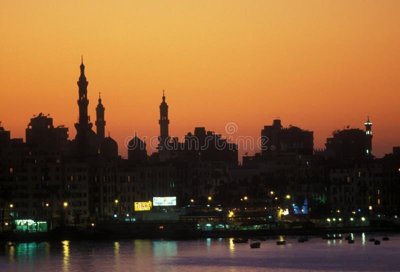 AFRIKA EGYPTEN ALEXANDRIA royaltyfri foto