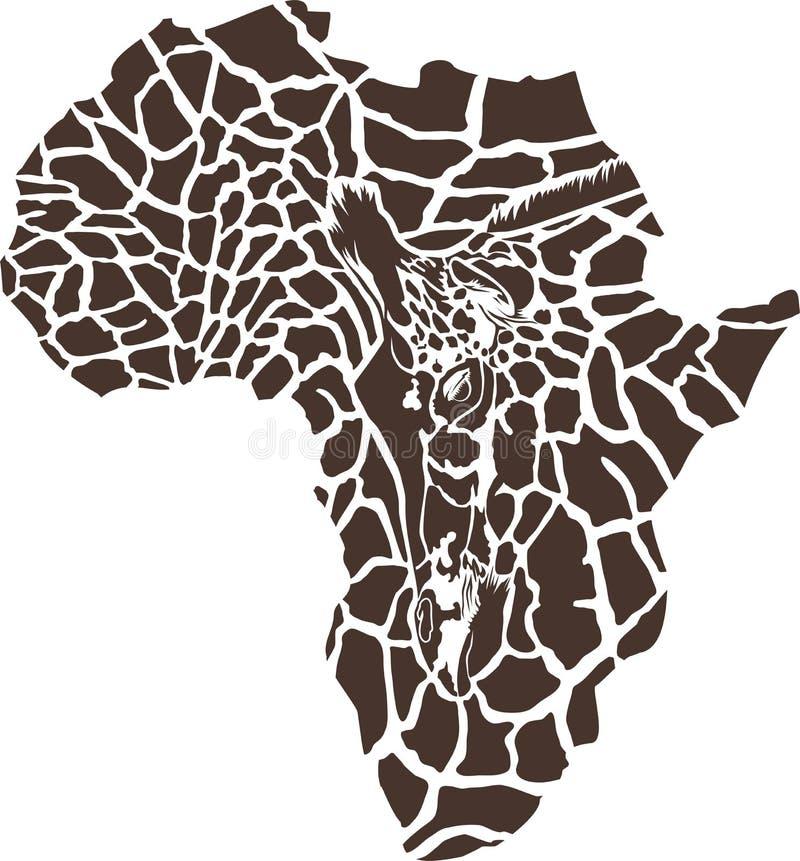 Afrika in einer Giraffentarnung lizenzfreie abbildung