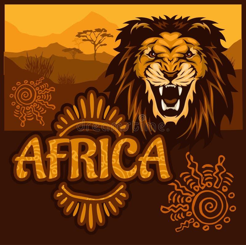 Afrika - ethnisches Plakat Auch im corel abgehobenen Betrag lizenzfreie abbildung