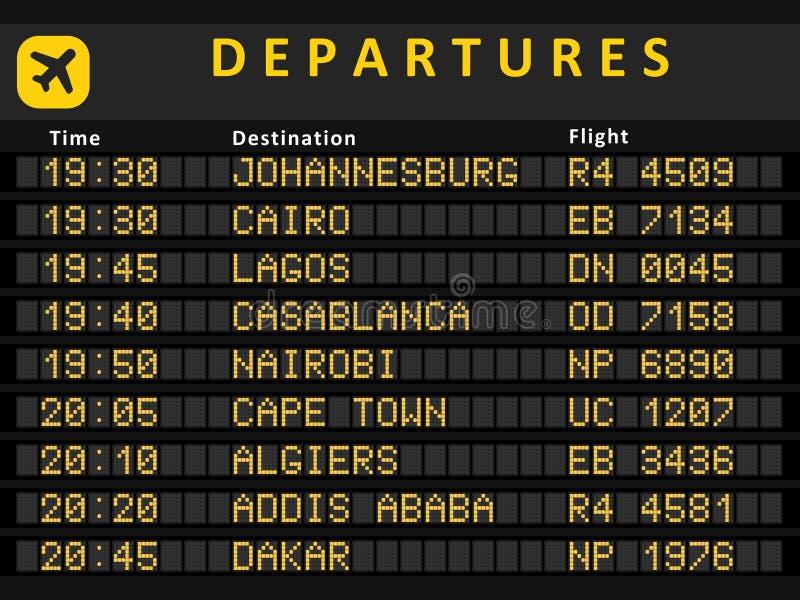 Afrika-Flughäfen lizenzfreie abbildung