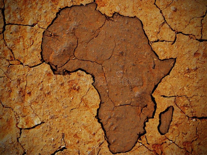 Afrika form på torrt smutsar arkivfoton