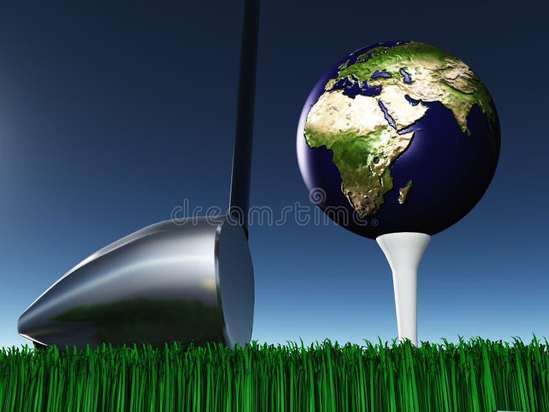 Afrika-Golf lizenzfreie abbildung