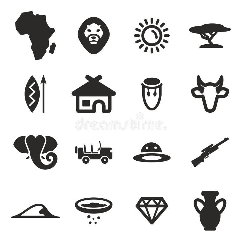 Afrika-Ikonen lizenzfreie abbildung