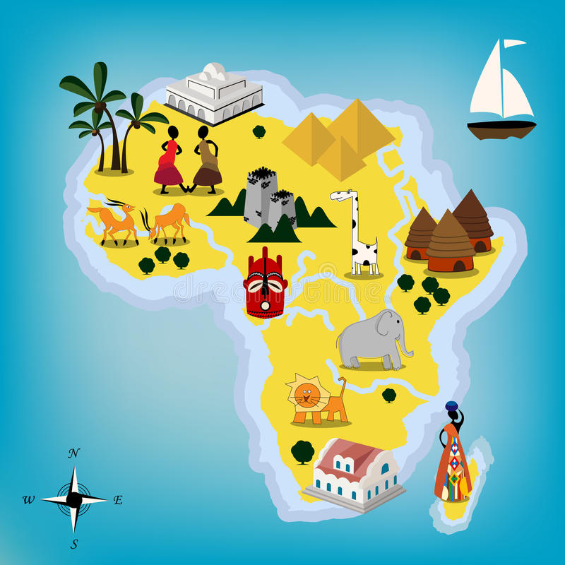 Afrika-Karte vektor abbildung
