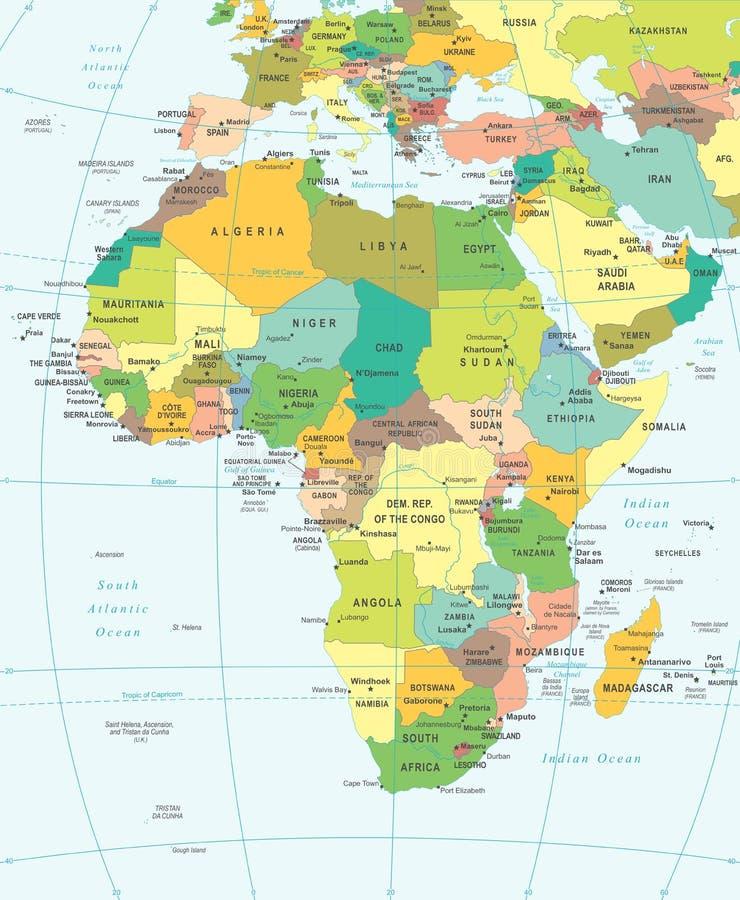 Afrika - Karte - Illustration vektor abbildung