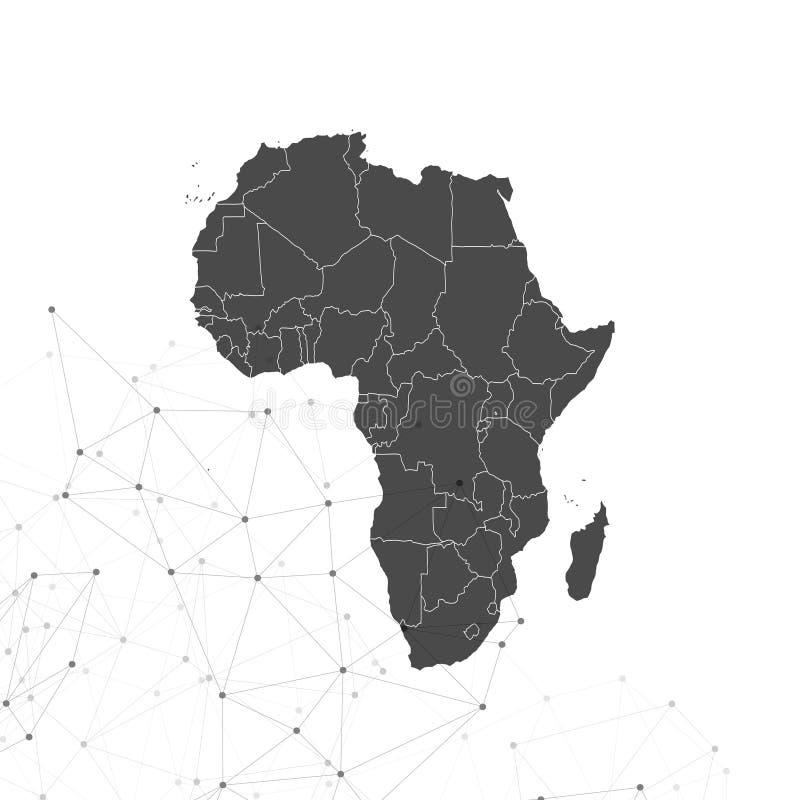 Afrika-Kartenhintergrundvektor, Illustration für stock abbildung