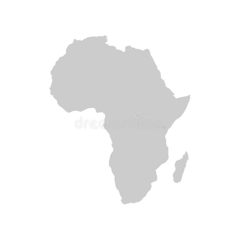 Afrika-Kontinent Graue Vektorschablone stock abbildung