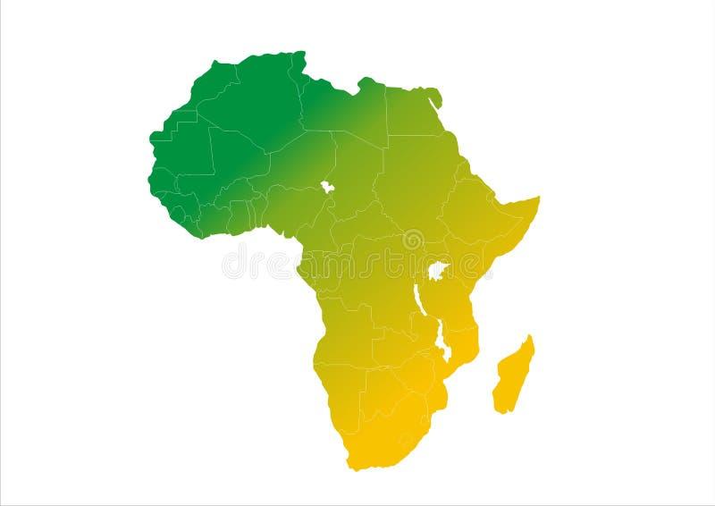 Afrika kontinentgradering royaltyfri illustrationer