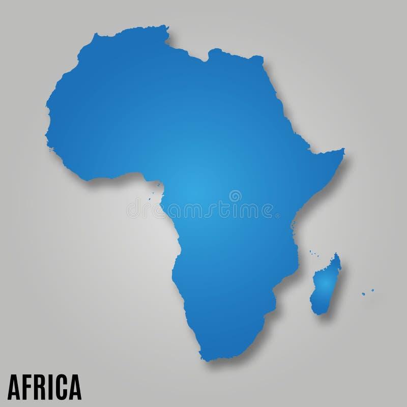 Afrika-Kontinentkarte stock abbildung