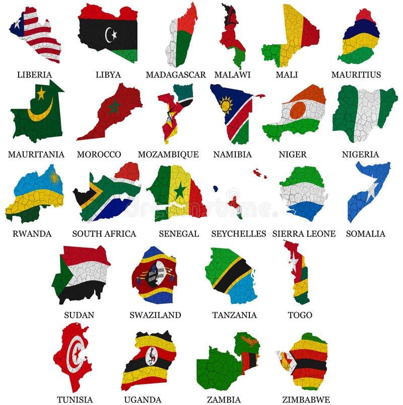 Afrika-Landflagge zeichnet Part2 auf lizenzfreie abbildung