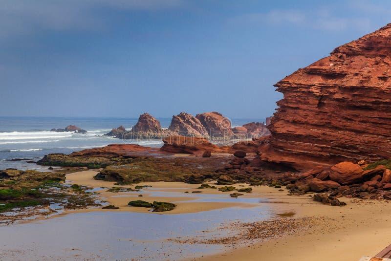 Afrika, Marocco, Agadir-Küste stockbild