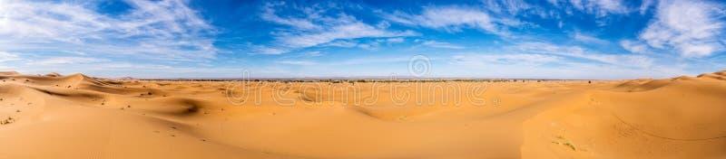 Afrika, Marokko-Erg Chebbi-Duinen - de woestijn van de Sahara royalty-vrije stock afbeelding