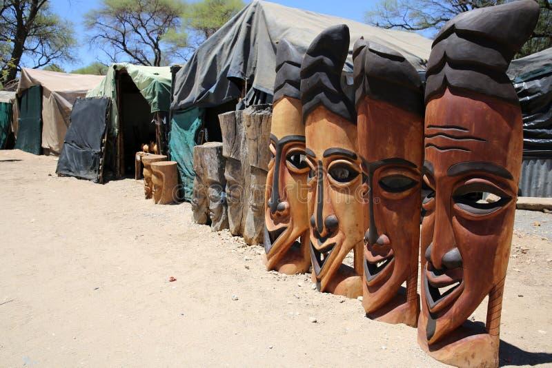 Afrika-Masken lizenzfreies stockbild