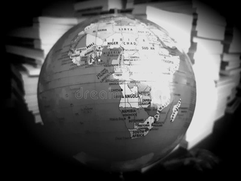 Afrika in nadruk royalty-vrije stock afbeelding