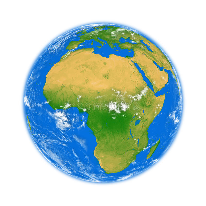 Afrika på jord stock illustrationer