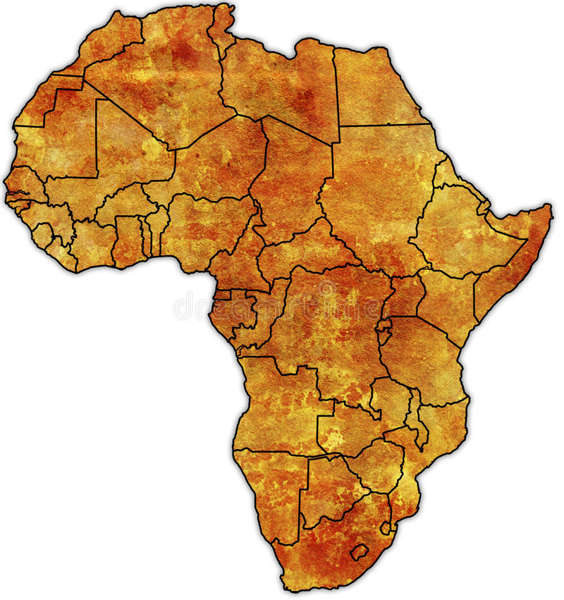 Afrika-politische Karte stock abbildung