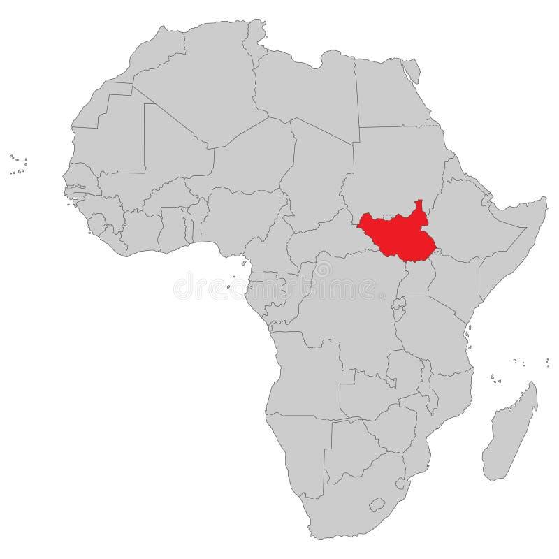 Afrika - politische Karte von Afrika lizenzfreie abbildung